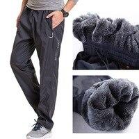Grandwish Fleece Thick Pants Men Outside Winter Pants Men Fleece Warm Straight Mens Fleece Pants Heavyweight Zipper , PA785