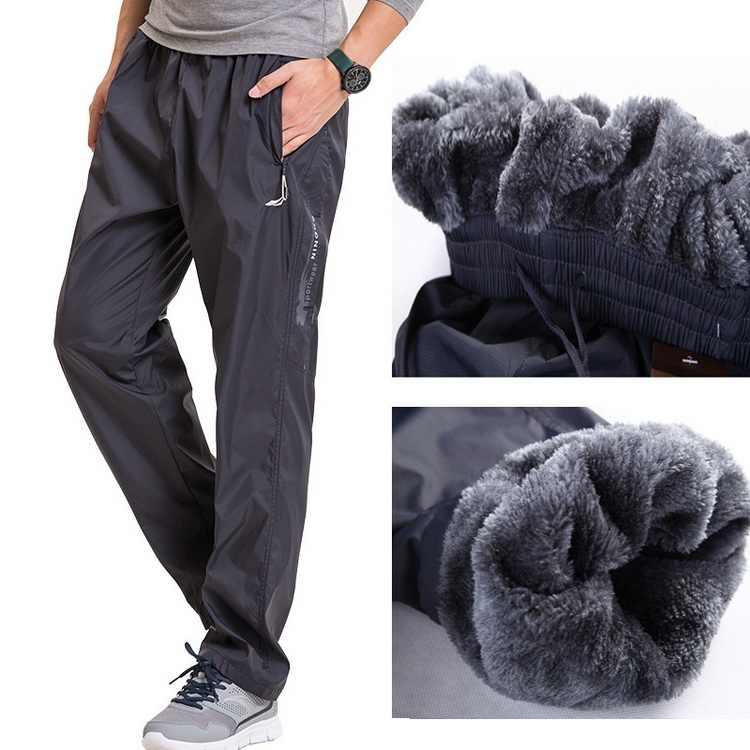 4d638f61cffa Grandwish Fleece Thick Pants Men Outside Winter Pants Men Fleece Warm  Straight Mens Fleece Pants Heavyweight