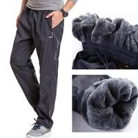 Grandwish Quick Dry Mens Active Pants Plus Size 6XL Winter Warm Men Thick Pants Big Size