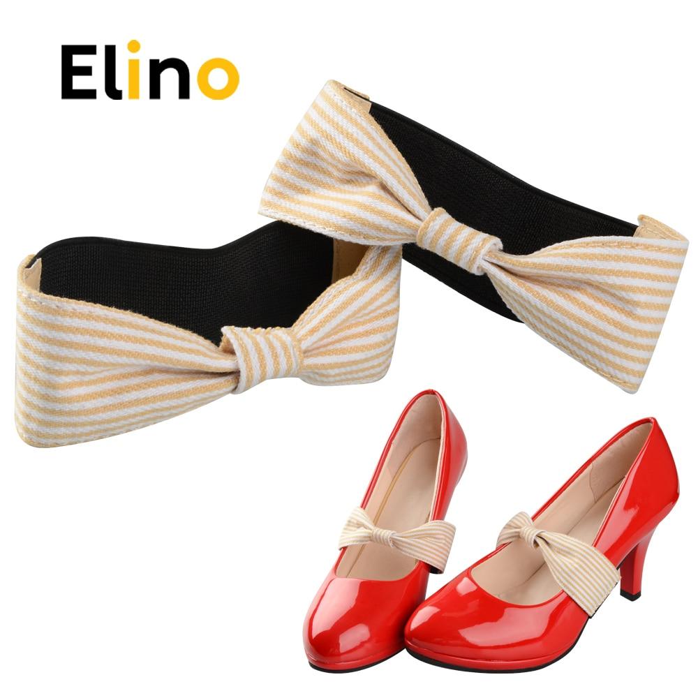 Elino Detachable Bow Shoe Straps Shoelaces Band Belts for Holding Loose High Heeled Shoes Decoration No Tie Shoelace Lazy Laces ...