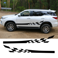 Left And Right Sides Racing Stripe Vinyl Graphics Kit For SUV FORTUNER 2016