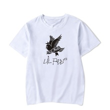 цена 2019 Fashion Bird Letter Print Men T Shirts Summer Casual O-neck Short Sleeve T-shirts Black Women Punk Rock Hip Hop Tops Tee в интернет-магазинах