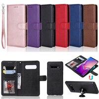 Съемная 2in1 кожаный бумажник чехол для samsung Galaxy S3 Neo S4 S5 S6 S7 край S8 S9 плюс S10 Lite A6 A7 A8 A9 2018 крышка A128