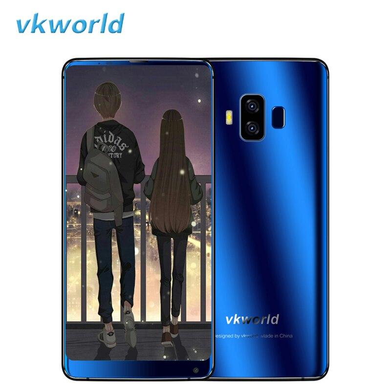 Vkworld S8 4g LTE Smartphone 5.99 Plein Écran D'empreintes Digitales Dual Sim Mobile Téléphone Android 7.0 4 gb 64 gb Octa Core 5500 mah Téléphone Portable
