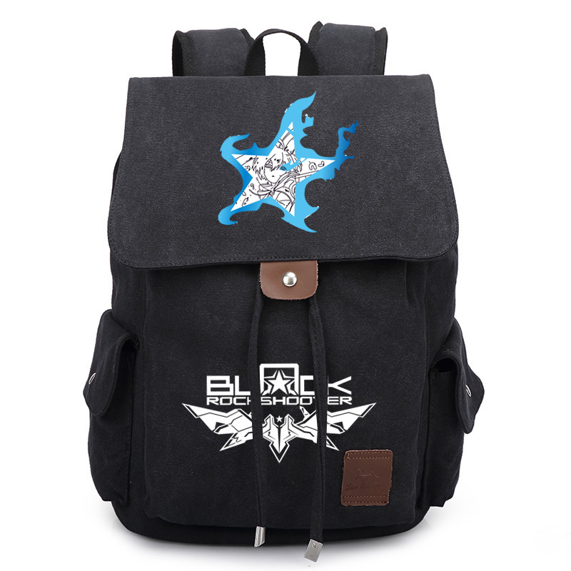Anime Black Rock Shooter Backpack School Bags Unisex Canvas Shoulder Laptop Travel Bags Rucksack Work Leisure Bag Gift new anime gravity falls bill school backpack usb charge interface laptop travel bag unisex black shoulder travel bags