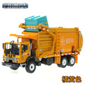 (3pcs/pack) Free Shipping Wholesale Brand New 1/24 Scale Car Toys Garbage Truck Diecast Metal Car Model Toy