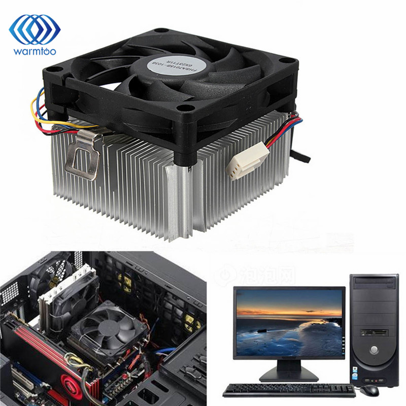 1Pc New CPU Cooler Cooling Fan & Heatsink For AMD Socket AM2/3 1A02C3W00 9 Leaf 4 Pins Up To 95W Radiator Fan 2016 new ultra queit hydro 3pin fan cpu cooler heatsink for intel for amd z001 drop shipping