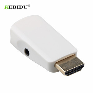 Image 5 - Kebidu HDMI To VGA Adapter Converter Cable With Audio Cable Male to Female Support HD 1080P For PC Laptop Wholesale