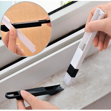 Multipurpose Window Groove Cleaning Brush Nook Cranny Keyboard Cleaner, Household Home Kitchen Folding Cleaning Tool(China)