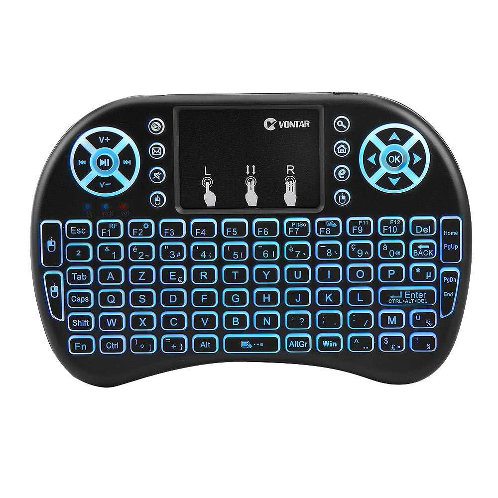 I8 Mini Air mouse 2,4G Беспроводная клавиатура с сенсорной панелью Английский Русский Испанский Французский пульт дистанционного управления для Android tv BOX
