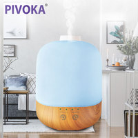 PIVOKA 300ML Aroma Essential Oil Diffuser Ultrasonic Electric Air Humidifier Grain Aromatherapy Mist Maker For Home
