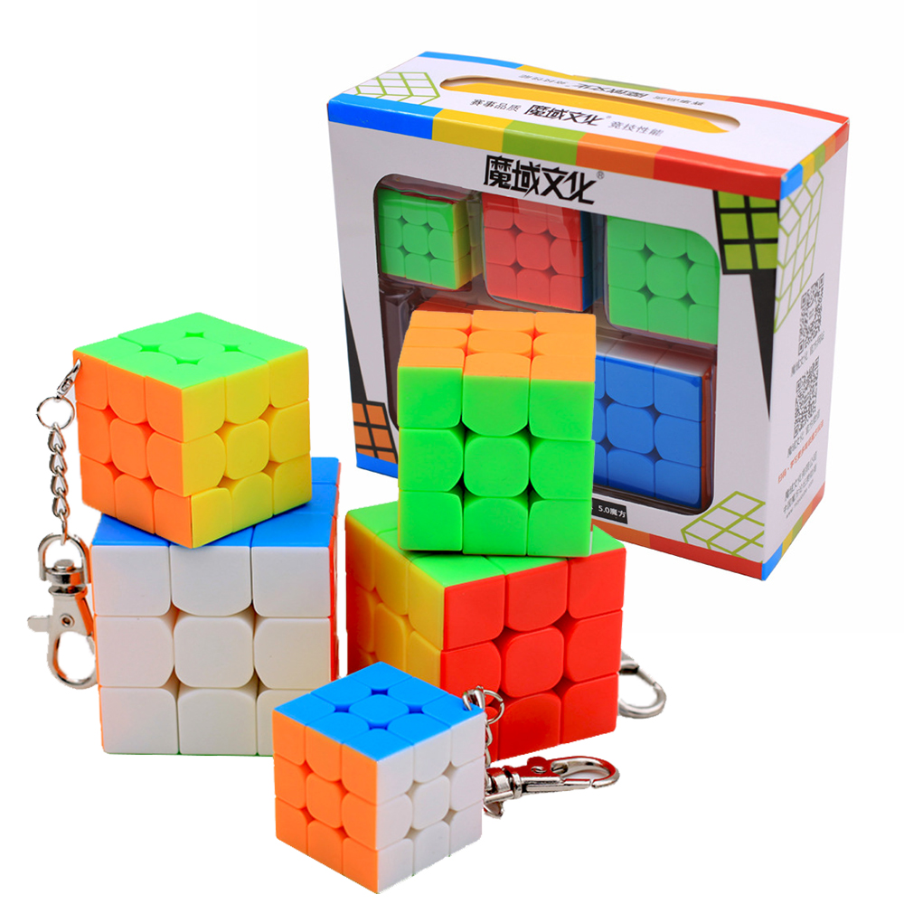 Magic Cube With Keychain
