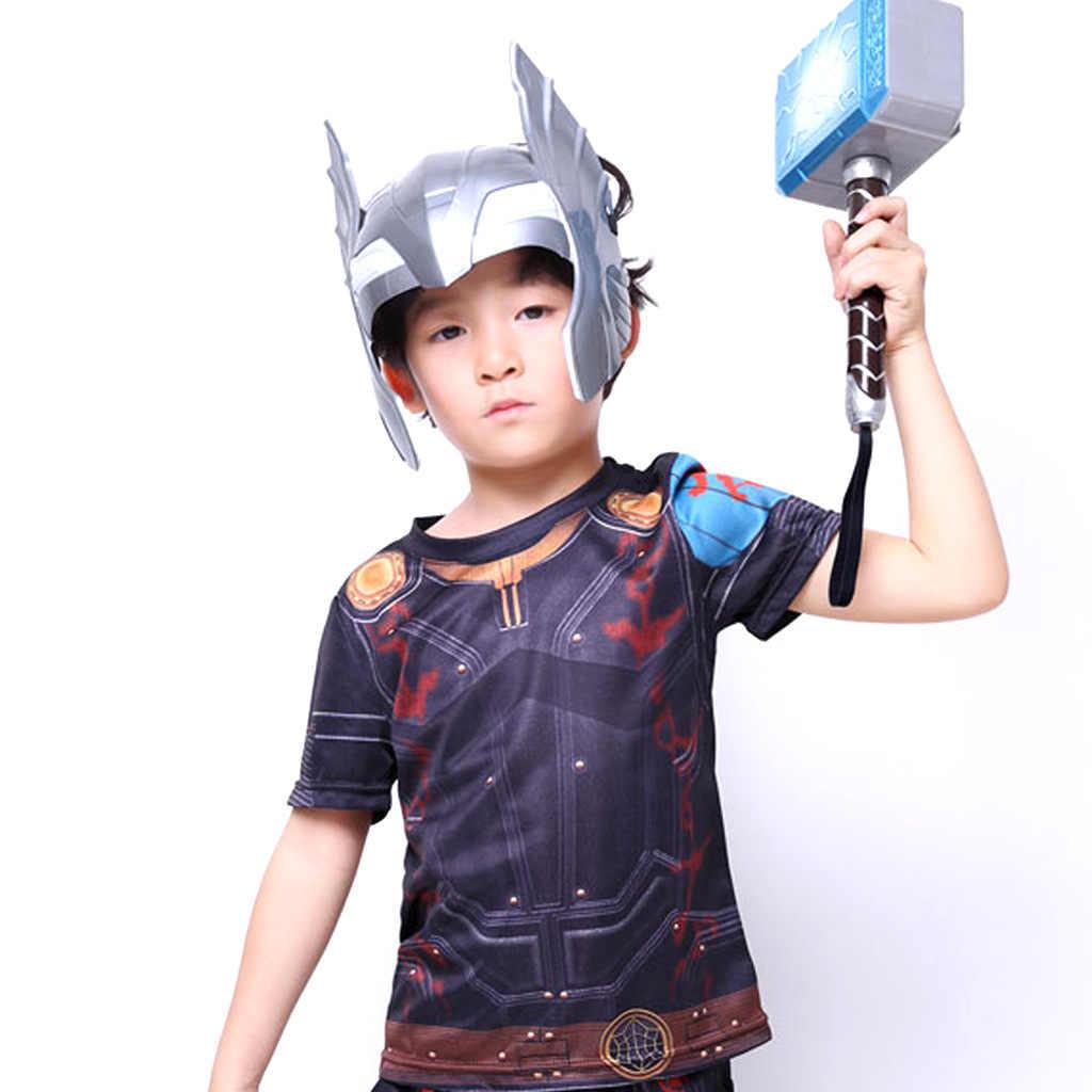 Мстители эндшпиль Тор молоток пластик 28 см светодиодный светящиеся, голосовой Тор топор шоу на Хэллоуин оружие реквизит Детские подарки игрушки