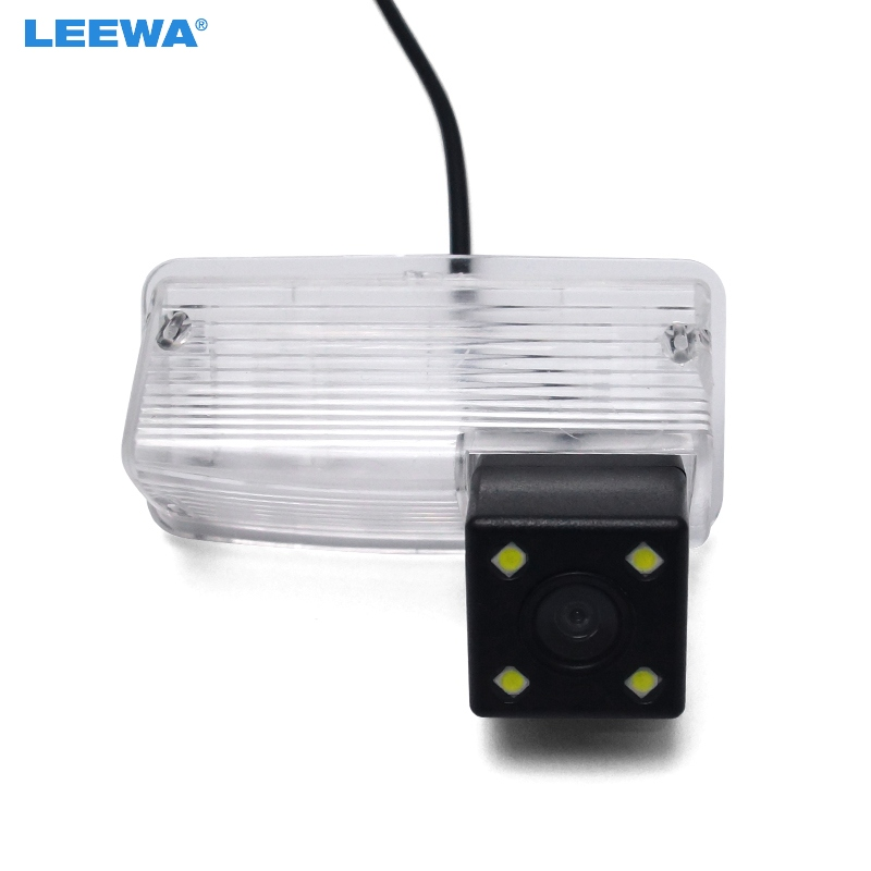 LEEWA HD Car Rear View Camera with LED light For Toyota Corolla E120/E130/Reiz(10~12)/Vios(03~08) Reversing Parking Camera #4103