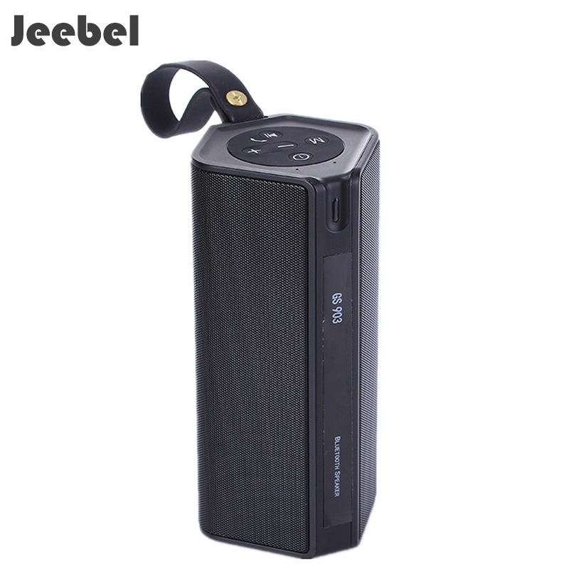Jeebel Speaker 10W Outdoor Sport Bluetooth Waterproof Portable Mini TF Subwoofer Bass Stereo Music Box Speakers DSP Big Battary