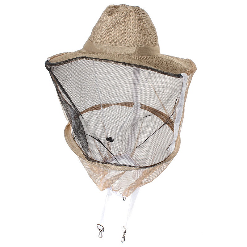 Nylon Beekeeping Garden Cowboy Hat Anti Mosquito Bee Insect Bug Face veil Head Guard Protecter комплектующие для кормушек beekeeping 4 equipment121mm 91 158