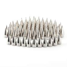 7 WINOMO 100 pcs x 9mm De Metal Cone Spikes Screwback Studs Couro DIY Craft Estilo Punk Rebites (Prata)(China)