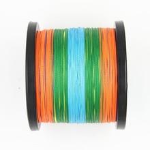 Rainbow Ocean Rock Fishing 1000M Super PE 4x sea fishing braided wires 0.36-0.55mm Multifilament colorful line fishing thread