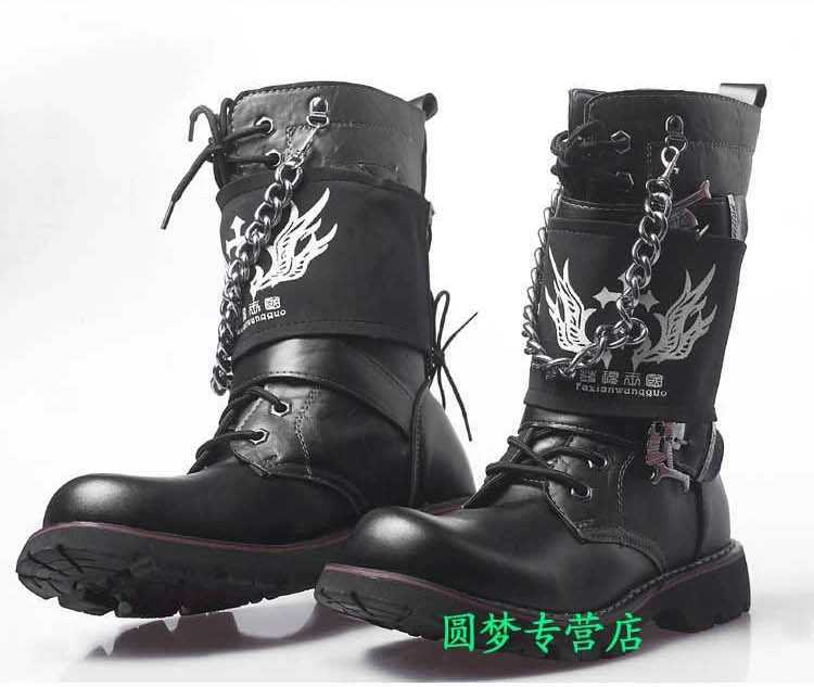 Mens Fashion Military Style Boots