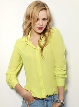 Womens yellow button down shirt online shopping-the world largest ...
