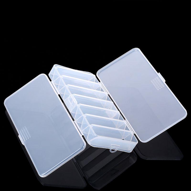 14 compartimentos peixe iscas de plastico rigido casos de dupla face spinner util multi funcao de