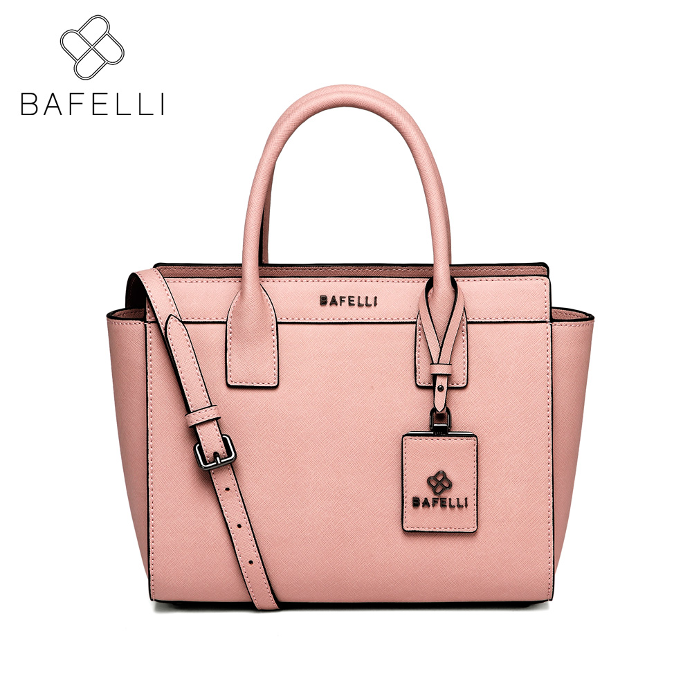 BAFELLI split leather Large capacity shoulder bag fashion trapeze bolsa mujer luxury handbag hot sale women messenger bag