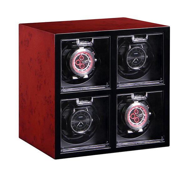 Watch Winder Box Winding 4 Automatic Watches for Brand EU Luxury Wristwatches Storage Conserve Display Global Use Fast ShippingWatch Winder Box Winding 4 Automatic Watches for Brand EU Luxury Wristwatches Storage Conserve Display Global Use Fast Shipping