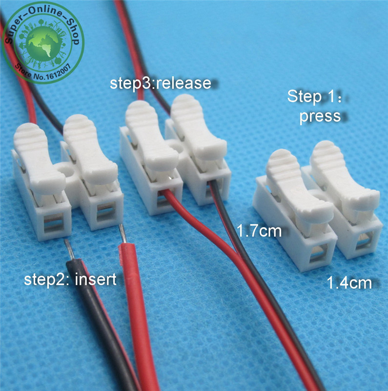 20 x 2p Spring Connector Electrical Cable wire no welding no screws clamp Terminal Block Splice Screws Terminal clamp in Connectors from Lights Lighting