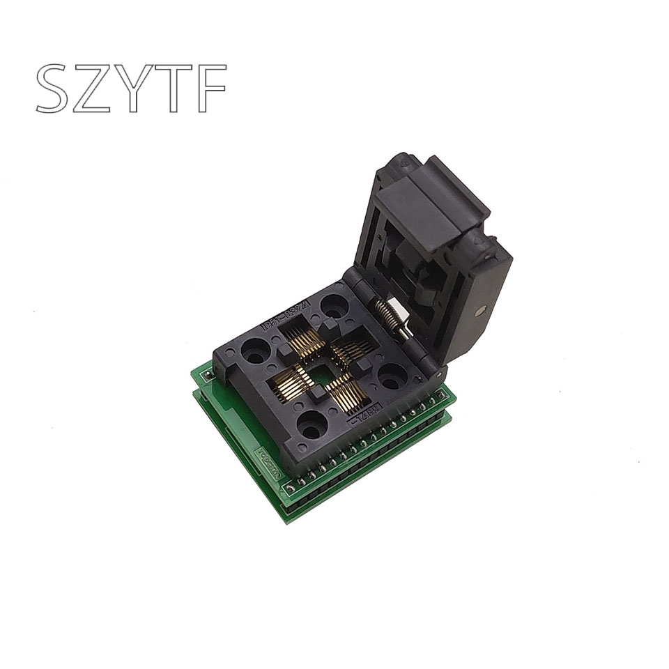 TQFP32 QFP32 TO DIP32 IC Programmer Adapter Chip Test Socket SA663 Burning Seat Integrated Circuits