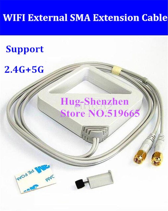 Wifi External SMA connector extension cable desktop for inter 7265 7260 8265 dual band AC wireless card support 2.4G/5G