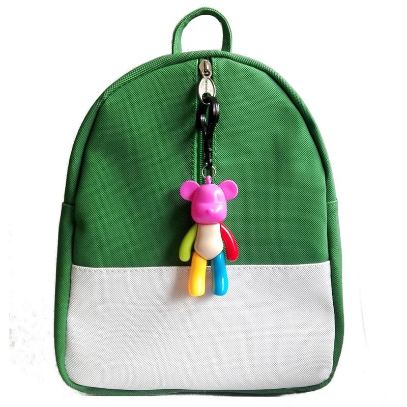 285e0d17ace4 Korean version candy color backpack kids baby bag cute animal bear zipper  children PU school bag