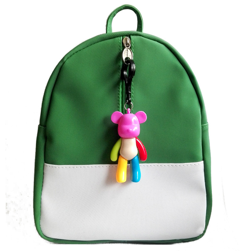 Korean Version Candy Color Backpack Kids Baby Bag Cute Animal Bear Zipper Children PU School Bag For Kindergarten Boy Girls Gift