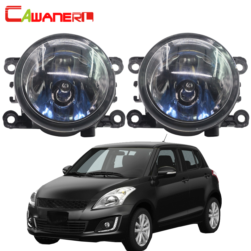 Cawanerl 2 X 100W Car Halogen Bulb Fog Light DRL Daytime Running Lamp 4300K 12V For Suzuki Swift MZ EZ Hatchback 2005-2015 cawanerl 2 x car led fog light drl daytime running lamp 12v white for toyota prius hatchback zvw3 1 8 hybrid 2009 onwards