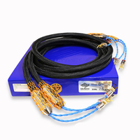 Бесплатная доставка пара moonsaudio классический Юбилей 330l аудио кабели динамиков с Y Spade разъем