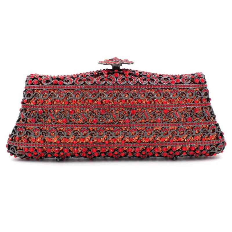 2017 new day clutches European luxury diamond hollow dinner bag full diamonds ladies evening bags single shoulder handbag sacs