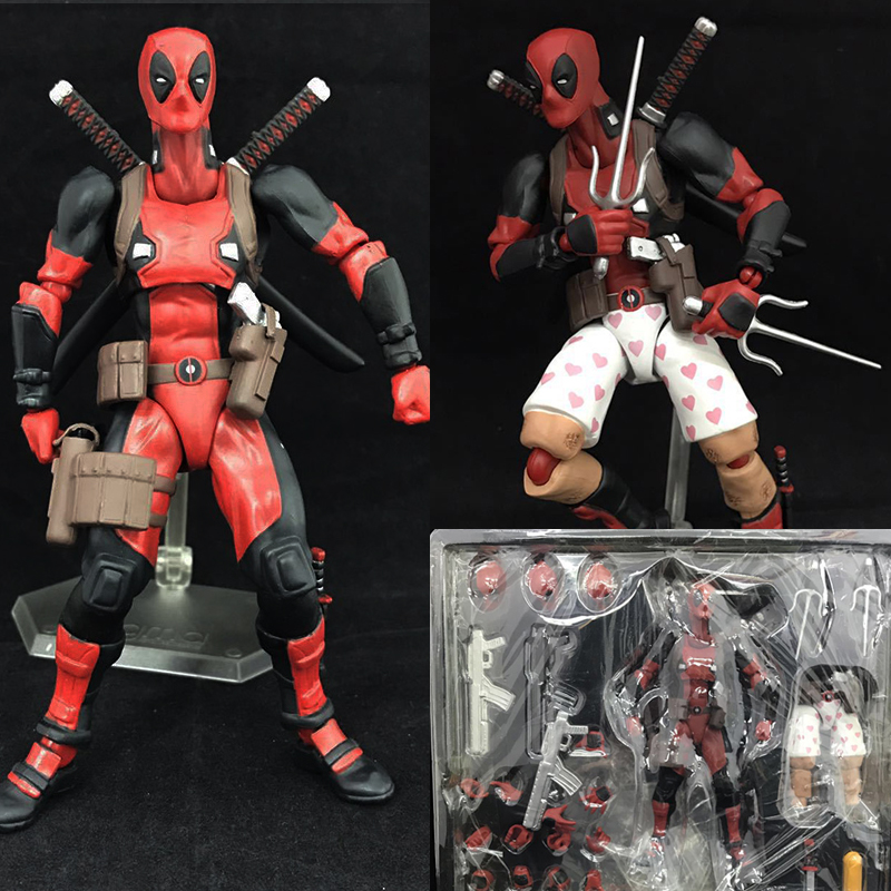 Deadpool Figma EX-42 DX Version Deadpool  PVC Action Figure Collectible Model Toy Doll Gift hot selling 70cm bearbrick luxury lady ch be rbrick pvc action figure collectible model toy birthday gift ornaments