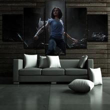 Canvas Painting Movie Alita Battle Angel Poster 5 Panel Modern Home Decor Bedroom Wall Art Modular Picture Canvas Print Artwork(China)
