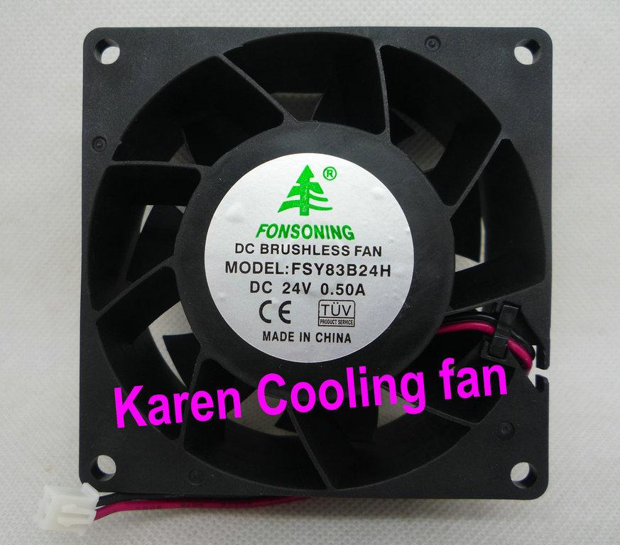 Подробнее о FONSONING 8CM FSY83B24H 8038 24V 0.5A 2WIRE Cooling Fan измерительный прибор fsy