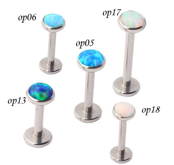 ES52012 free shipping 10pcs/lot multi functions body piercing jewelry inside screw lip rings stone stainless steel ear studs