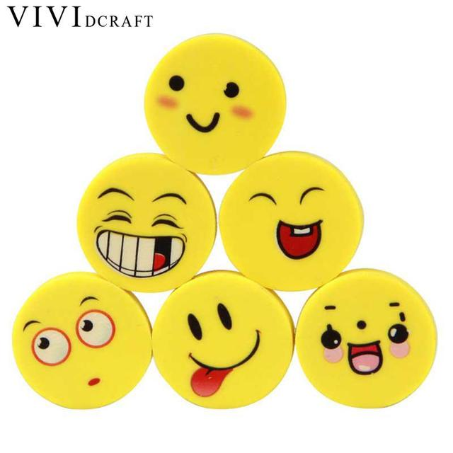 Vividcraft 4 Pcs Lot Kawaii School Supplies Mini Rubber Eraser Cute