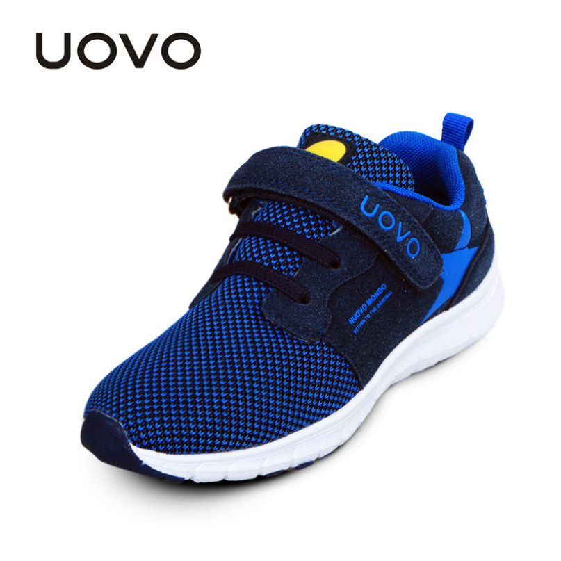 UOVO 2018 New Spring Autumn Children Shoes Boys Breathable Fashion Sports Shoes Kids Running Shoes Casual Toddler Girl Sneakers 2017 new spring imported leather men s shoes white eather shoes breathable sneaker fashion men casual shoes
