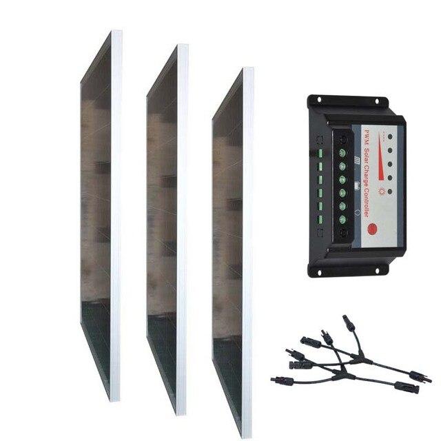 Solar Kit Solar Panel 12V 100W 3 Pcs/Lot Solar Charge Controller Regulator 12v/24V 30A 3 In 1 Connector Motorhome Camp Caravan