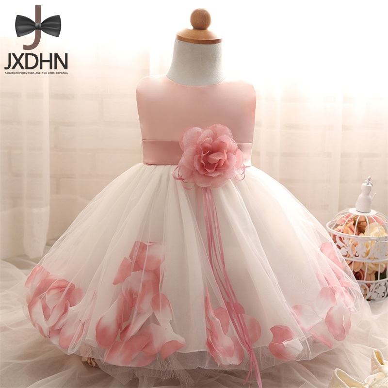 Baptism baby Girl Dress 1 Year Birthday infant Girls Clothes Kids princess Dresses Wedding Party Wear tutu Party Dress girl baby infant girl 1 year birthday party tutu dress 0 3 y toddler sleeveless princess wedding flower girls dresses clothing gdr267