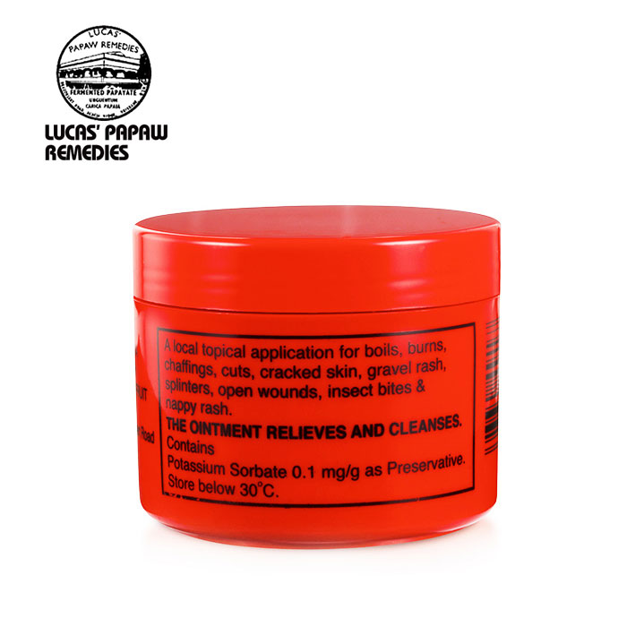 US $18 24 39% OFF|Original Australia Lucas PAPAW Ointment Massage Skin Care  for Boils Burns Chafings Open wounds Insect bites Nappy rash Lip Balm-in