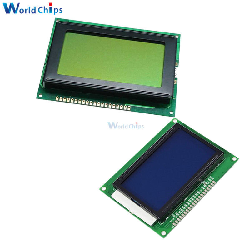 12864 128x64 Dots Graphic Yellow Green/Blue Color With Backlight LCD Display Module For Arduino Raspberry Pi Diy Kit