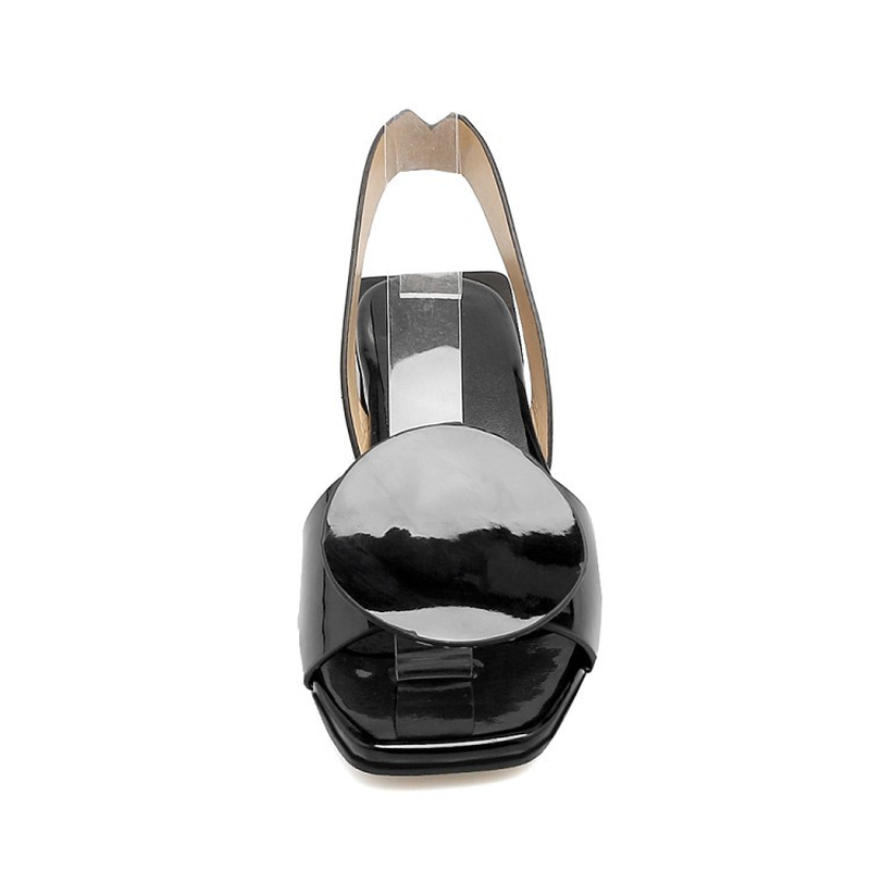 Summer Sandals Women Square Heels Shoes Simple Leisure Outdoor Daily Women Sandals Size 34 43 in Middle Heels from Shoes
