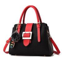 2018 Japan and South Korea fashion casual women luxury handbags paneled lady leather shoulder bag messenger bags bolsa feminina