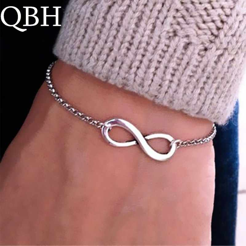 L117 Fashion Pulseras Bijoux 2018 New Women 8 Infinity Bracelet For Men Jewelry Girl Gift Charm Bracelets Bangles pulseiras