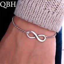 L117 Fashion Pulseras Bijoux New Women 8 Infinity Bracelet For Men Jewelry Girl Gift Charm Bracelets