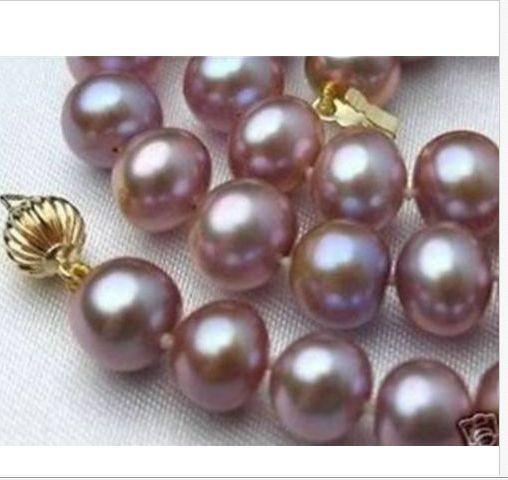 elegant 11-12mm freshwater round lavender pearl necklace 18inch 925silverelegant 11-12mm freshwater round lavender pearl necklace 18inch 925silver